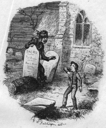 The Terrible Stranger in the Churchyard