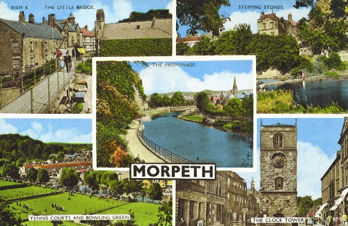 Northumberland, Morpeth, Postcard