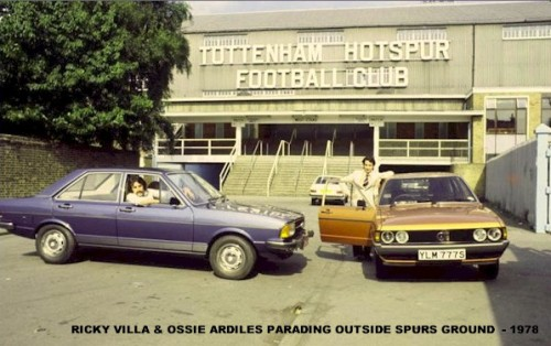 Ricky Villa & Ossie Ardiles Parading Out Spurs Ground 1978