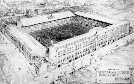 White Hart Lane, architects drawing 1934