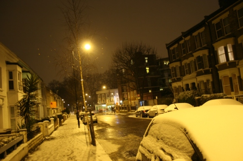 Homerton, snowbound