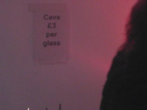 Cava £3 per glass