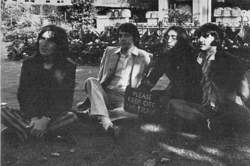 The Beatles keep off the grass